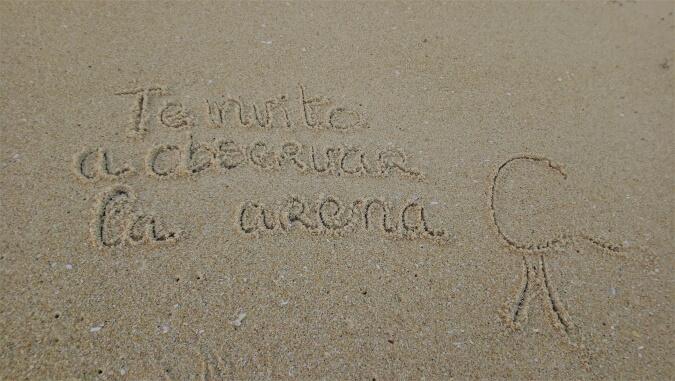 Dibujar en la arena
